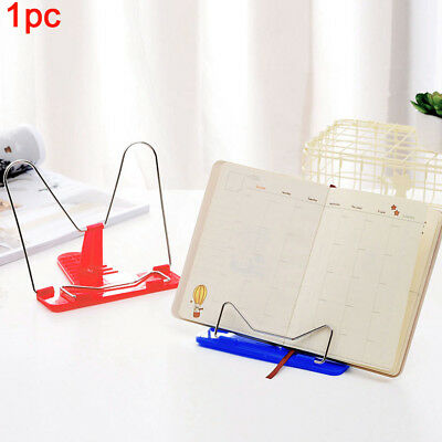 Fold Plastic Desktop For Home Book Stand Portable Adjustable Holder Bookends