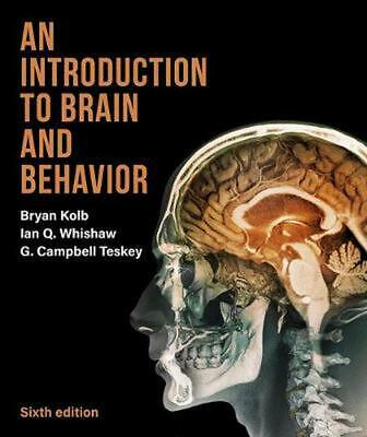 An Introduction to Brain and Behavior by Bryan Kolb Hardcover Book Free Shipping