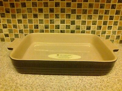 Le creuset Oven to tableware Blue Stoneware Large Rectangular Dish stamped 18-27