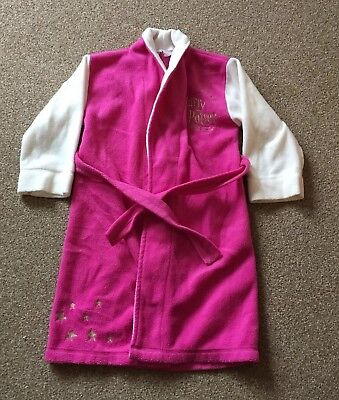 """Girls, Harry Potter """"Chamber Of Secrets"""", Pink/White, Dressing Gown. Age 6-7yrs"""
