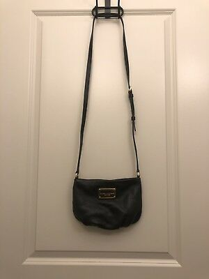 ad6c51439e MARC JACOBS `SWEET JANE JUNE Prussian Blue Leather Crossbody Msrp ...