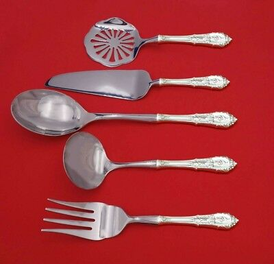 Rose Point by Wallace Sterling Silver Thanksgiving Serving Set 5pc Custom Made