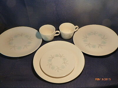 Vintage Homer Laughlin Dura Print Replacement Dishes Plates Cups Lot Of 5