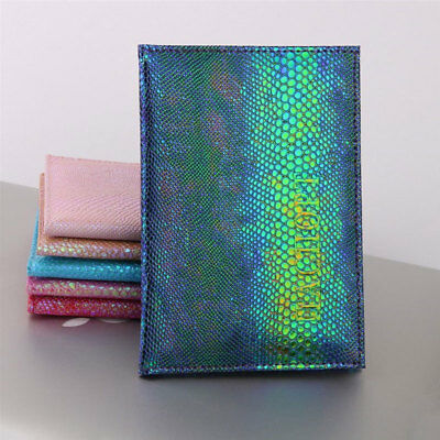 Bling Passport Case Holder PU Leather RFID Blocking Travel ID Credit Card Wallet