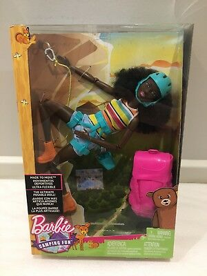 Made To Move Barbie Doll - Rock Climber - Camping Fun. Nrfb.