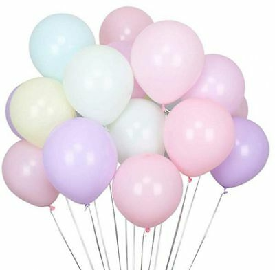 "10"" Macaron Pastel Color Balloons Latex Helium Birthday Wedding Party MelbSeller"