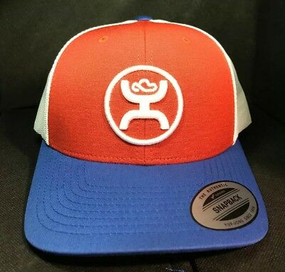 finest selection 17ee1 935b3 New 2019 Hooey CODY OHL Red White Blue 1005T-RDWH Snapback Trucker