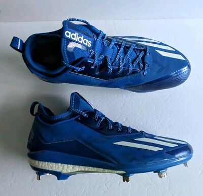 quality design 29a25 22062 Adidas Energy Boost Icon 2.0 Metal Baseball Cleats Royal Blue Size 12.5  B72825