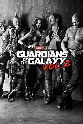 Guardians of the Galaxy Vol. 2 Black & White Teaser Movie Poster 24x36 Inch
