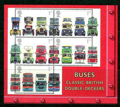 GB 2001 Commemorative Stamps~Buses~ M/S~Unmounted Mint Set~UK