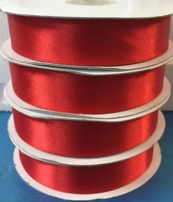 Ruban Double Satin Rouge 25 mm x 50 mt