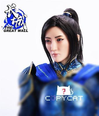 """1/6 Female Sculpt Jing Tian Planted Hair Head the Great Wall Fit 12"""" Figure Toy"""