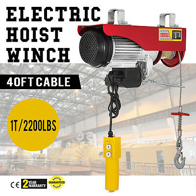 New 880lbs Mini Electric Hoist Crane Overhead Garage Winch Remote Control Auto Lift Making Things Convenient For The People Tools