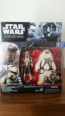 Star Wars Rogue One Scarif Stormtrooper & Moroff  3.75-Inch Figures Mint in Box