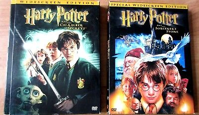 Lot of Harry Potter DVD Set Sorcerer's Stone and the Chamber of Secrets