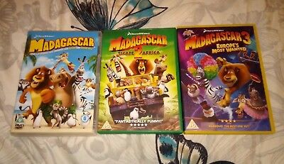 Dreamworks Madagascar 1 2 3 Complete DVD Collection