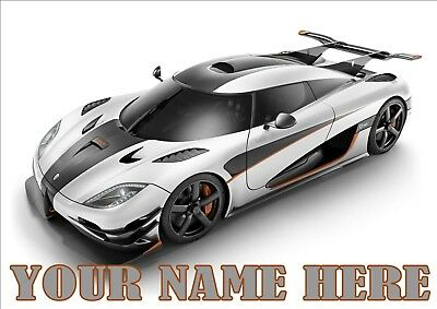Sports Cars Posters A4 Print: Add any Name (See All Designs)