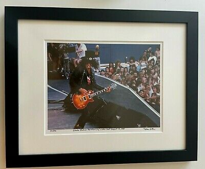 Guns N Roses Slash Rare Paradise City video shoot fine art photo signed 26/100