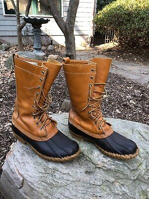 f77d2f467697e LL BEAN BOOT Gum Duck Maine Hunting Shoe 10 Eyelet Size 9 Wide Mens ...