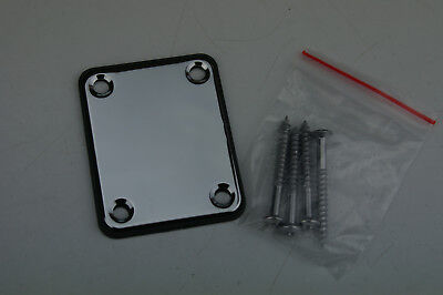Voodoo Vibe Chrome NECK PLATE w/Screws for Guitar/Bass Strat Tele e.t.c...