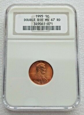 1995 NGC Slabbed 1c Double Die MS67 Red Lincoln Cent Penny