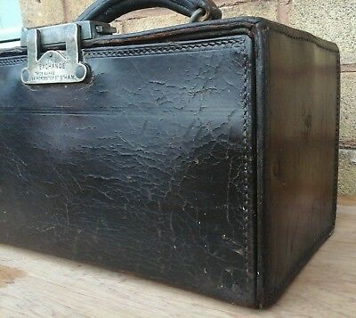 Antique Heavy Duty Leather Travellers Sample Case Peaky Blinders Era & Location