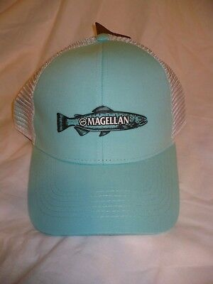 Magellan Outdoors Men s Hat Cap Sketched Trout Celadon White Color Snap Back  NEW b38f2740e022