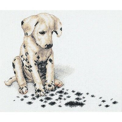 Puppy Mess Dog Cross Stitch Chart Digital Format