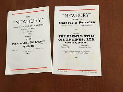 1930s Plenty-Still Newbury Crude Oil Engine Catalog Brochure Lot British Vintage