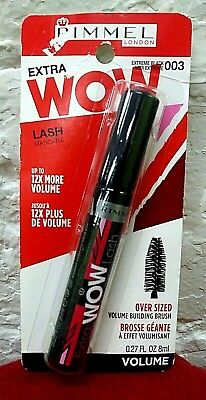 88a5c29572b Rimmel Extra Wow Lash Mascara # 003 Extreme Black 12x More Volume 0.27 Fl Oz