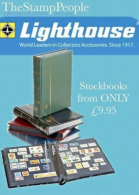 Lighthouse Stockbook ⭐️ 16, Black Pages ⭐️ Premium Stamp Stock book