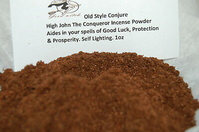 High John The Conqueror Incense Powder- Fast Luck, Love Santeria, Hoodoo, Wicca