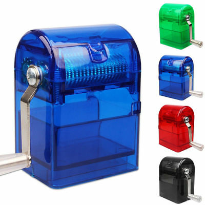 Hand Crank Grinder Crusher Tobacco Herb Cutter Shredder Smoking Case Muller CH