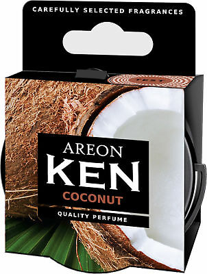 12x Original Areon Ken Car Scent Container Air Freshener Lid Coconut