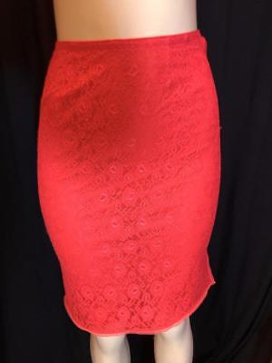 Formfit Rogers Red Lace Half Slip Size S # 020315