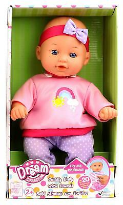 Gigo DREAM COLLECTION Real Lifelike Cuddly Baby Doll - 20 Baby Sounds