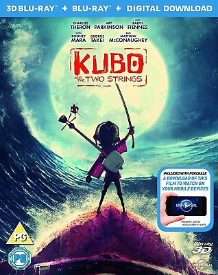 Kubo and the Two Strings (3D Blu-ray/Blu-ray, 2016, 2-Disc Set)