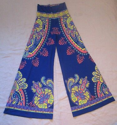 725cd80b6f9 FLYING TOMATO Wide Leg Palazzo Pants High Waist Paisley Print Medium