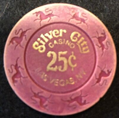 Silver City Casino Las Vegas $.25 Fractional Vintage Casino Chip