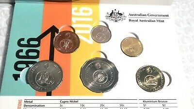 Australia  2016  THE CHANGEOVER  UNCIRCULATED 6 COIN SET