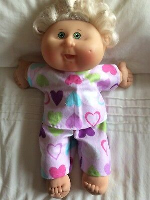 "DOLLS CLOTHES fit 14"" CABBAGE PATCH DOLL - Pyjamas. Pink ~ Hearts"