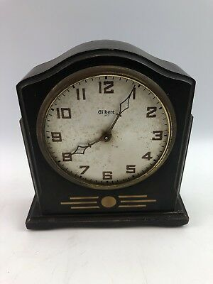 Vintage Antique Gilbert 1807 Wooden Mantel Shelf Clock - not working