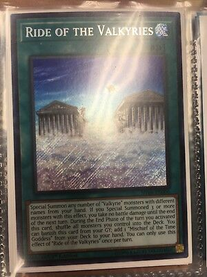 YUGIOH! Ride of the Valkyries SHVA-EN006 Secret Rare