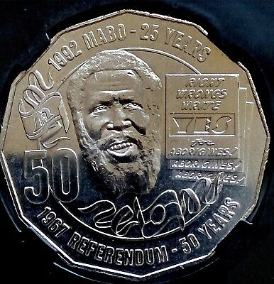 2017  CERTIFIED  Fifty Cent - 50c - EDDIE MABO - 1967 REFERENDUM 50 years