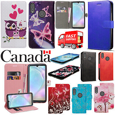 For Huawei P30 lite New Stylish PU Leather Wallet Phone Flip Stand Case Cover