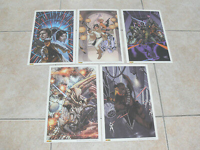 Lot de 6 ex libris Star Wars Panini Comics 2017 2018