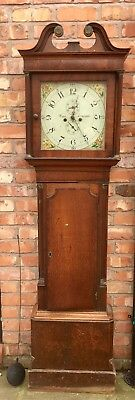 Antique Oak And Mahogany Longcase Grandfather Clock 8day Parr Liverpool