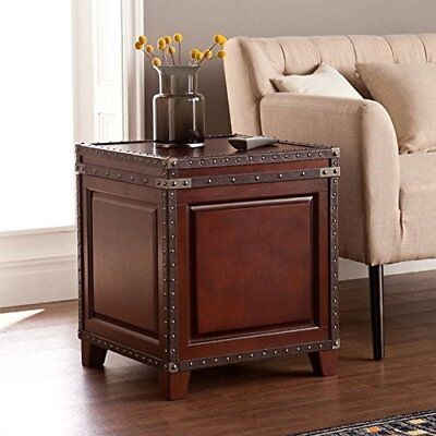 """Amherst Trunk End Table Solid Wood 20.5""""W x 20.5""""L x 23.75""""H"""