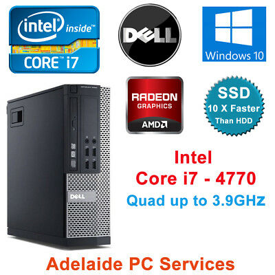 Dell Optiplex 9020 SFF Intel Core i7 4770 QC 8GB Ram 128GB SSD Amd GPU Win 10 PC