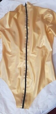 Gold Latex Body Suit. Dominatrix, Fetish, Rubber
